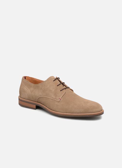 Chaussures à lacets Tommy Hilfiger ESSENTIAL SUEDE LACE UP DERBY Beige vue détail/paire