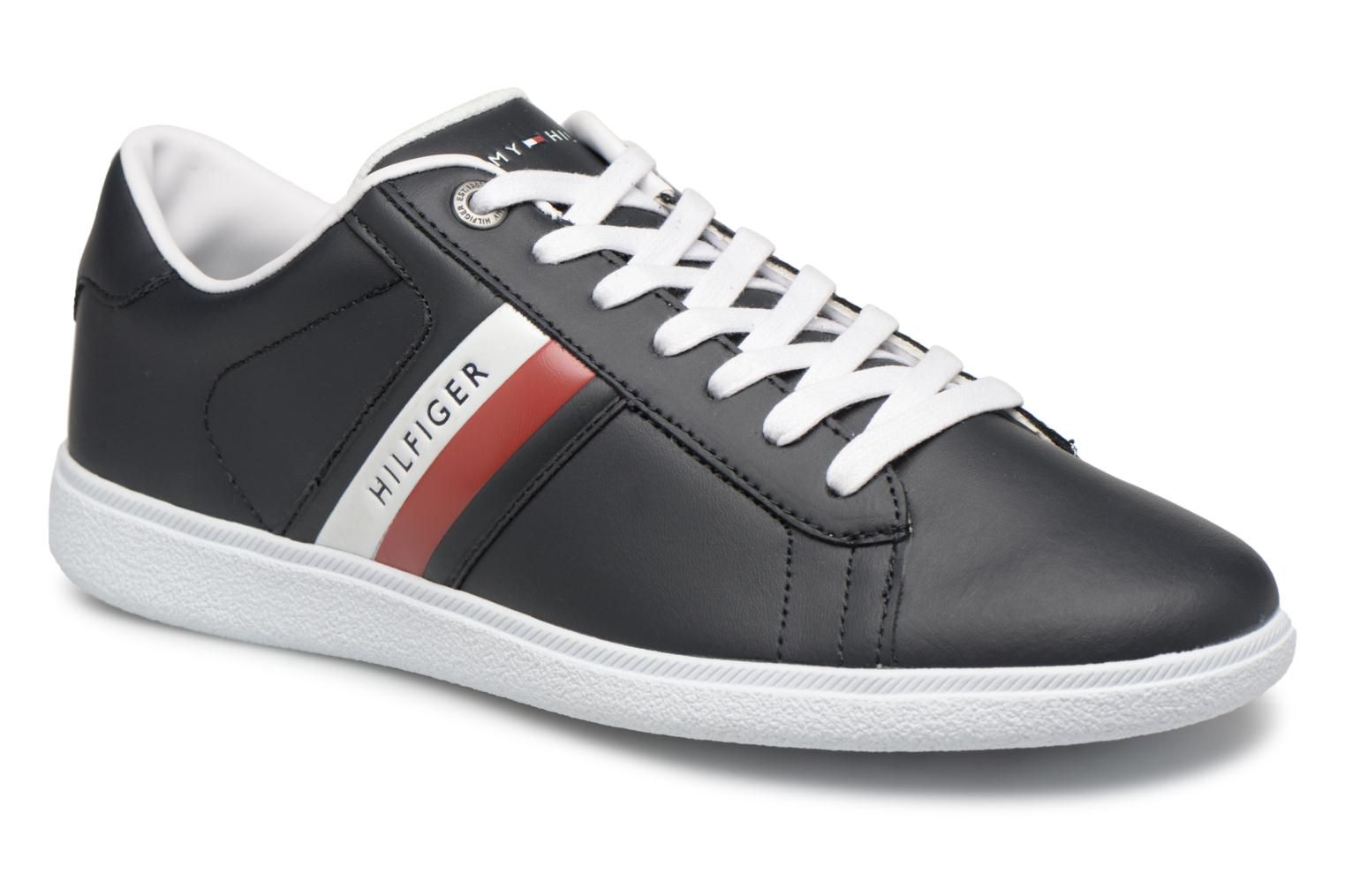 Baskets Tommy Hilfiger CORE CORPORATE LEATHER CUPSOLE Bleu vue détail/paire