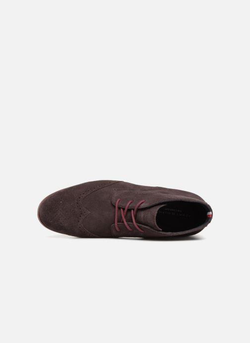 Bottines et boots Tommy Hilfiger DRESSY CASUAL SUEDE BOOT Bordeaux vue gauche
