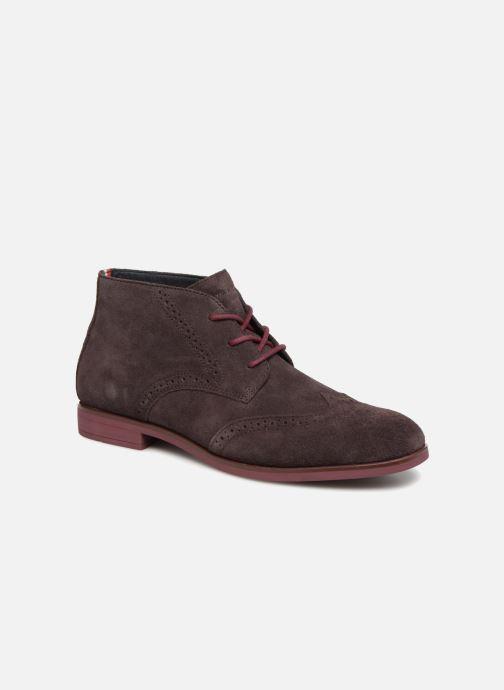 Bottines et boots Tommy Hilfiger DRESSY CASUAL SUEDE BOOT Bordeaux vue détail/paire