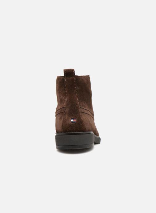 Bottines et boots Tommy Hilfiger FLEXIBLE DRESSY SUEDE BOOT Marron vue droite