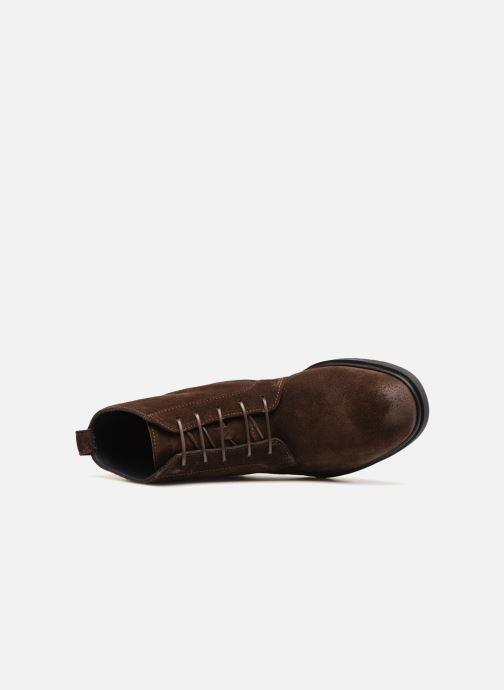 Bottines et boots Tommy Hilfiger FLEXIBLE DRESSY SUEDE BOOT Marron vue gauche