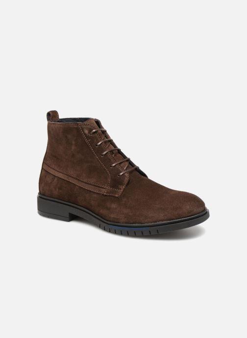Bottines et boots Tommy Hilfiger FLEXIBLE DRESSY SUEDE BOOT Marron vue détail/paire