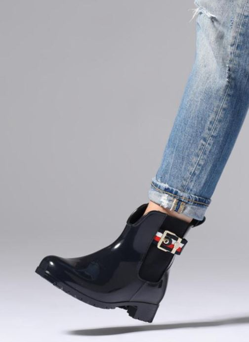 Bottines et boots Tommy Hilfiger CORPORATE BELT RAIN BOOT Bleu vue bas / vue portée sac