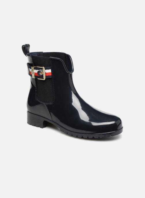 Bottines et boots Tommy Hilfiger CORPORATE BELT RAIN BOOT Bleu vue détail/paire