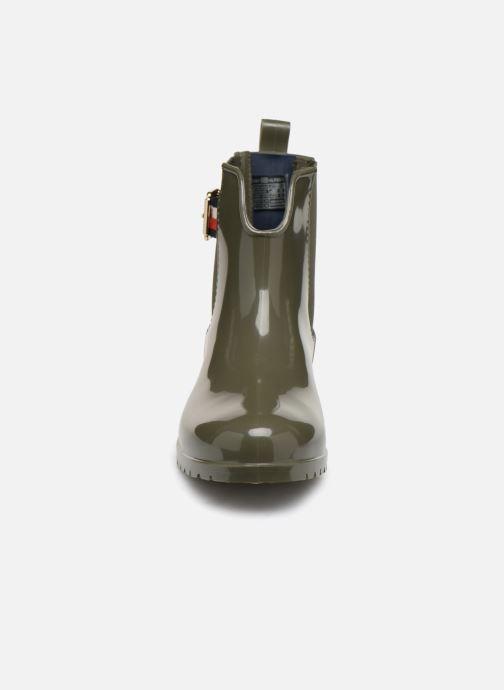 Bottines et boots Tommy Hilfiger CORPORATE BELT RAIN BOOT Vert vue portées chaussures