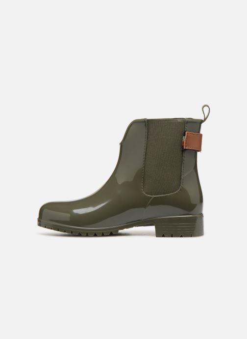 Bottines et boots Tommy Hilfiger CORPORATE BELT RAIN BOOT Vert vue face
