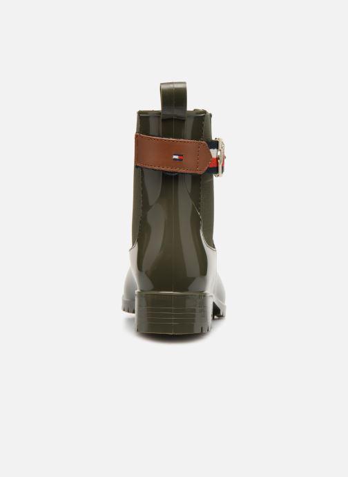 Bottines et boots Tommy Hilfiger CORPORATE BELT RAIN BOOT Vert vue droite