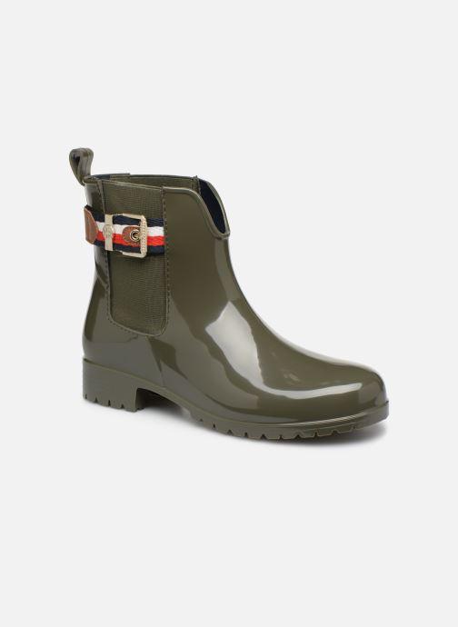 Bottines et boots Tommy Hilfiger CORPORATE BELT RAIN BOOT Vert vue détail/paire