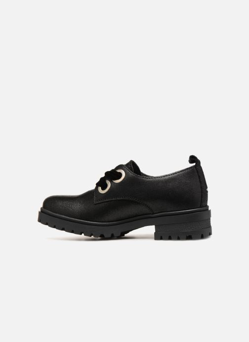 Zapatos con cordones Tommy Hilfiger METALLIC CLEATED SHOE Negro vista de frente