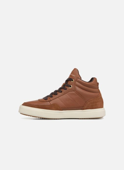 Baskets Tommy Hilfiger LIGHTWEIGHT MATERIAL MIX MID CUT Marron vue face