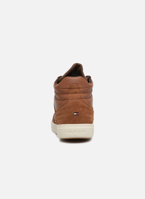 Baskets Tommy Hilfiger LIGHTWEIGHT MATERIAL MIX MID CUT Marron vue droite