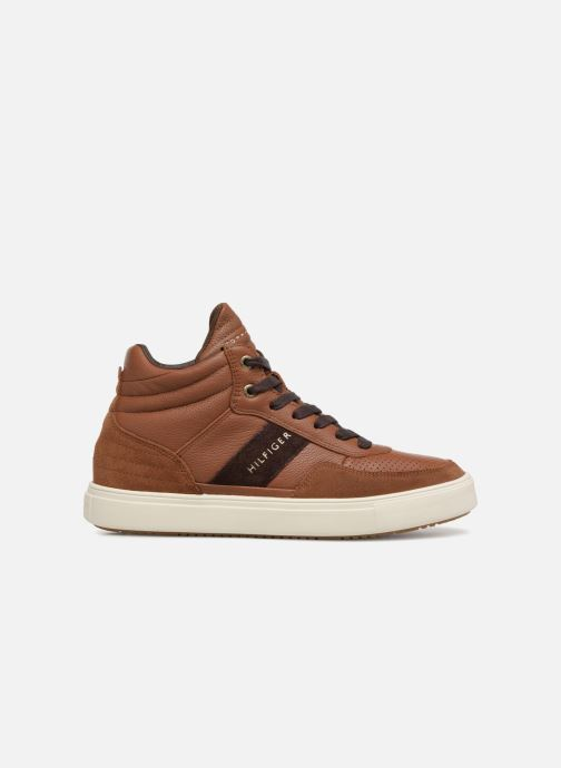 Baskets Tommy Hilfiger LIGHTWEIGHT MATERIAL MIX MID CUT Marron vue derrière