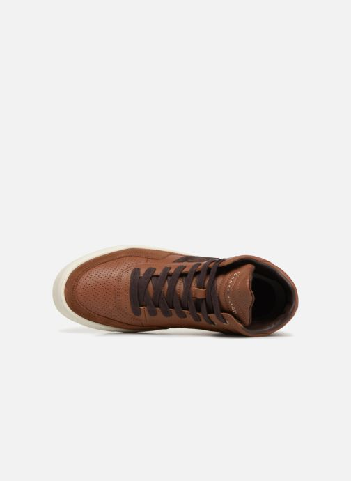 Baskets Tommy Hilfiger LIGHTWEIGHT MATERIAL MIX MID CUT Marron vue gauche