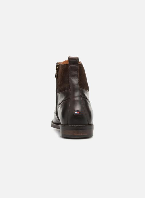Bottines et boots Tommy Hilfiger ESSENTIAL MATERIAL MIX BOOT Marron vue droite