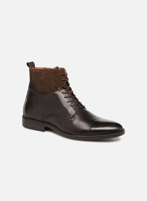 Bottines et boots Tommy Hilfiger ESSENTIAL MATERIAL MIX BOOT Marron vue détail/paire