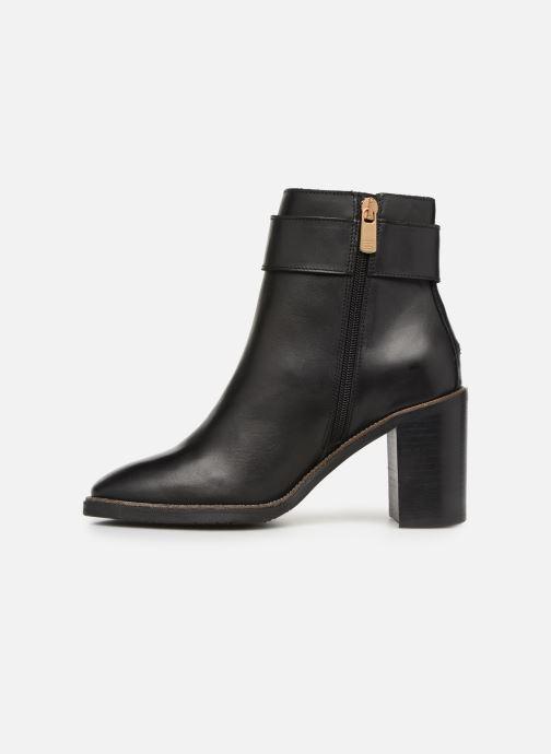 Boots en enkellaarsjes Tommy Hilfiger OVERSIZED BUCKLE HEELED BOOT Zwart voorkant