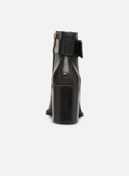 Boots en enkellaarsjes Tommy Hilfiger OVERSIZED BUCKLE HEELED BOOT Zwart rechts