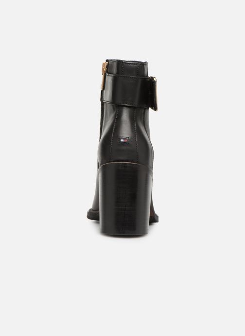 Bottines et boots Tommy Hilfiger OVERSIZED BUCKLE HEELED BOOT Noir vue droite