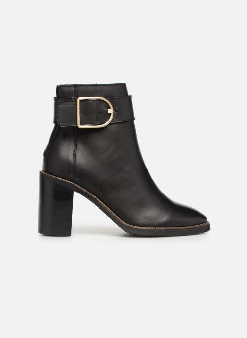 Boots en enkellaarsjes Tommy Hilfiger OVERSIZED BUCKLE HEELED BOOT Zwart achterkant