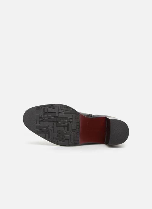 Bottines et boots Tommy Hilfiger OVERSIZED BUCKLE HEELED BOOT Noir vue haut
