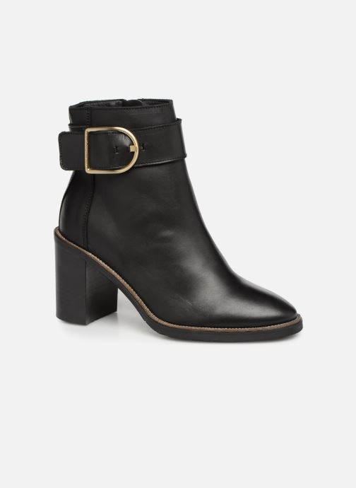 b8643e6ffd4bb5 Stiefeletten   Boots Tommy Hilfiger OVERSIZED BUCKLE HEELED BOOT schwarz  detaillierte ansicht modell
