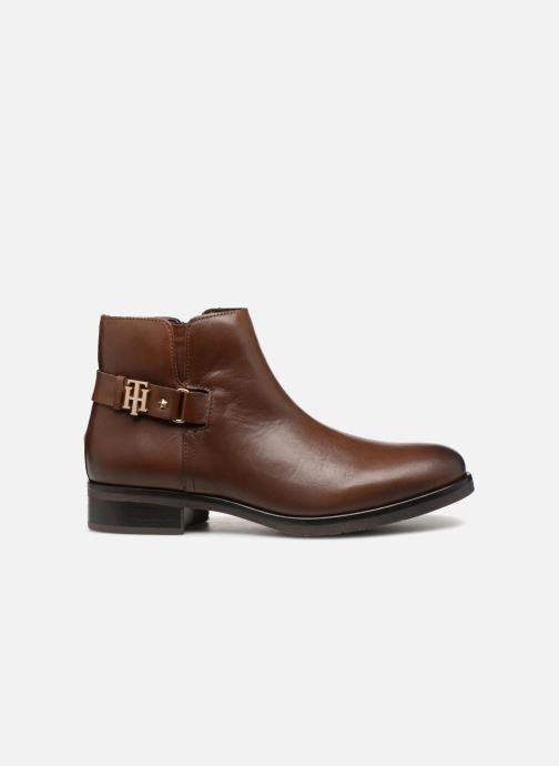 Bottines et boots Tommy Hilfiger TH BUCKLE LEATHER BOOTIE Marron vue derrière