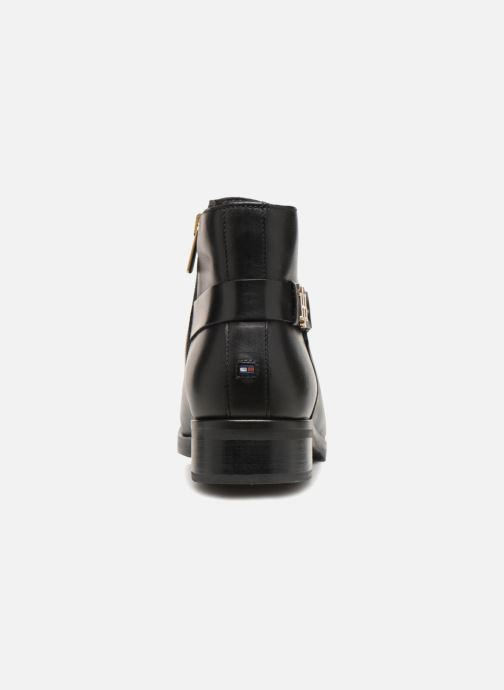 Botines  Tommy Hilfiger TH BUCKLE LEATHER BOOTIE Negro vista lateral derecha