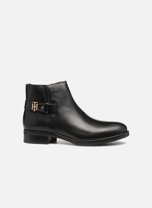 Botines  Tommy Hilfiger TH BUCKLE LEATHER BOOTIE Negro vistra trasera