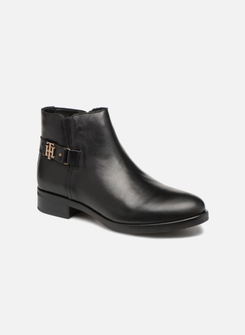 Botines  Tommy Hilfiger TH BUCKLE LEATHER BOOTIE Negro vista de detalle / par