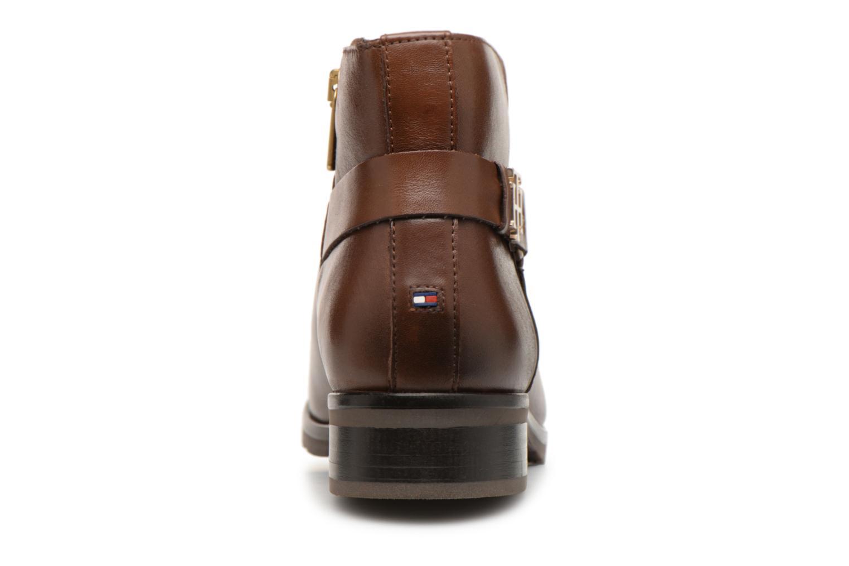 Bottines et boots Tommy Hilfiger TH BUCKLE LEATHER BOOTIE Marron vue droite