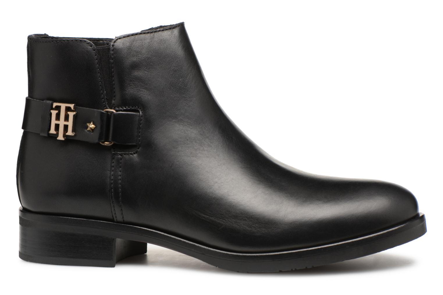 Bottines et boots Tommy Hilfiger TH BUCKLE LEATHER BOOTIE Noir vue derrière