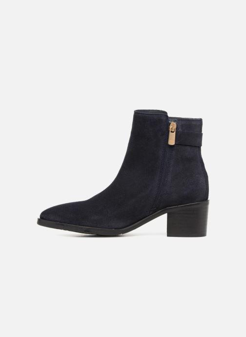 Boots en enkellaarsjes Tommy Hilfiger TH BUCKLE MID HEEL BOOT SUEDE Blauw voorkant