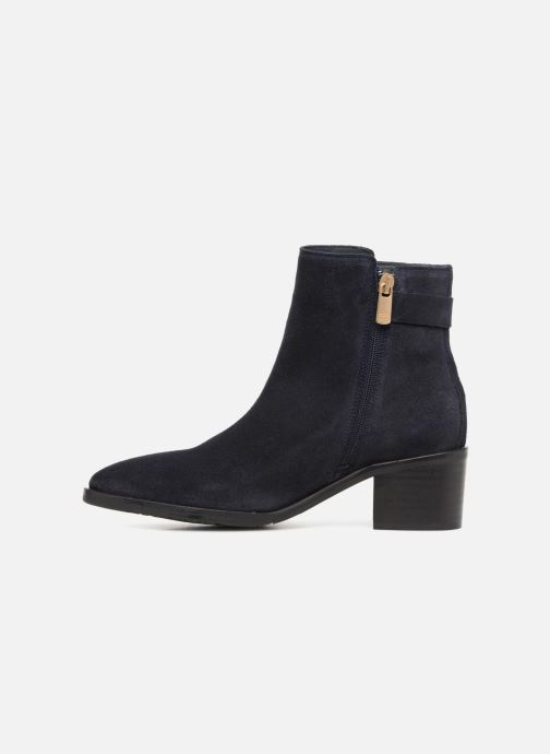 Bottines et boots Tommy Hilfiger TH BUCKLE MID HEEL BOOT SUEDE Bleu vue face
