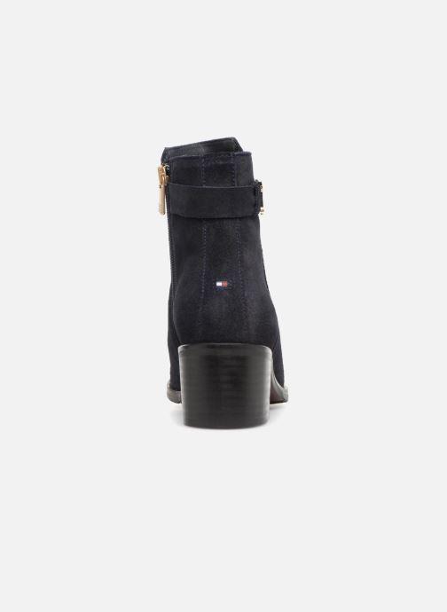 Bottines et boots Tommy Hilfiger TH BUCKLE MID HEEL BOOT SUEDE Bleu vue droite