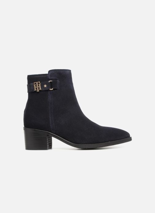 Bottines et boots Tommy Hilfiger TH BUCKLE MID HEEL BOOT SUEDE Bleu vue derrière