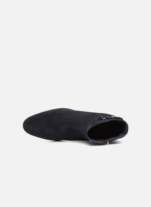 Bottines et boots Tommy Hilfiger TH BUCKLE MID HEEL BOOT SUEDE Bleu vue gauche