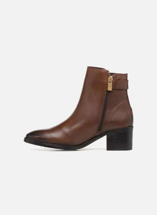 Bottines et boots Tommy Hilfiger TH BUCKLE MID HEEL BOOT LEATHER Marron vue face