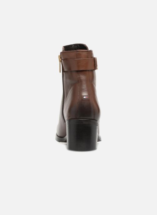 Bottines et boots Tommy Hilfiger TH BUCKLE MID HEEL BOOT LEATHER Marron vue droite