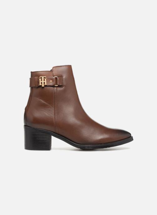 Bottines et boots Tommy Hilfiger TH BUCKLE MID HEEL BOOT LEATHER Marron vue derrière