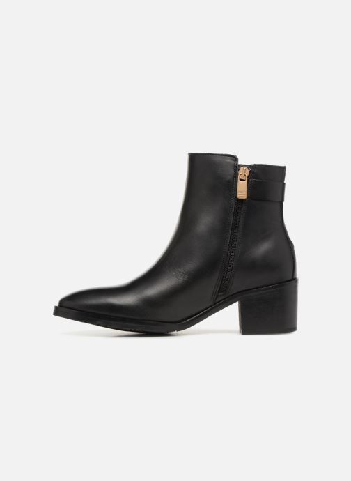Bottines et boots Tommy Hilfiger TH BUCKLE MID HEEL BOOT LEATHER Noir vue face
