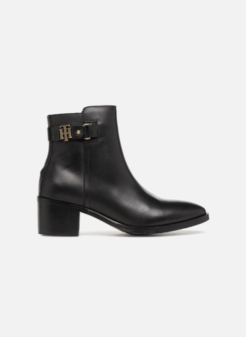Bottines et boots Tommy Hilfiger TH BUCKLE MID HEEL BOOT LEATHER Noir vue derrière
