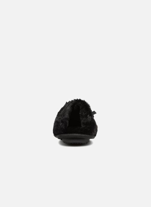 Chaussons Isotoner Mule platine suédine étoiles Noir vue droite
