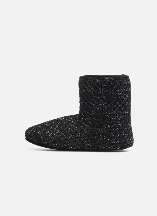Slippers Isotoner Botillon tricot lurex Black front view
