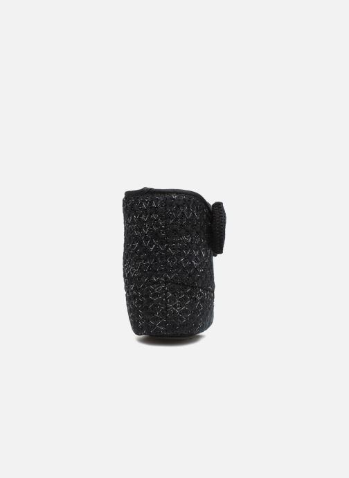 Chaussons Isotoner Botillon tricot lurex Noir vue droite