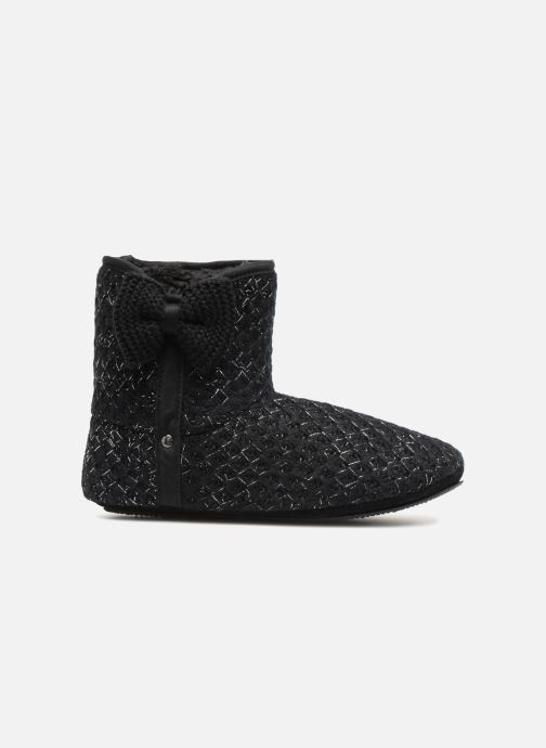 Slippers Isotoner Botillon tricot lurex Black back view