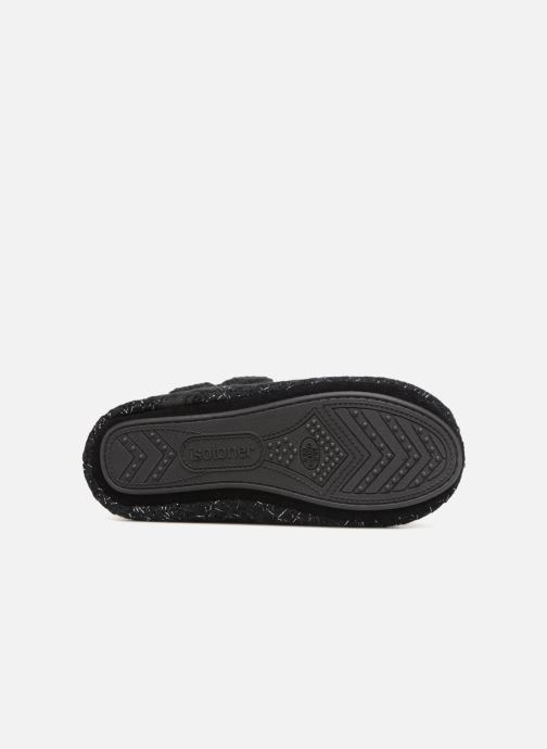 Slippers Isotoner Botillon tricot lurex Black view from above
