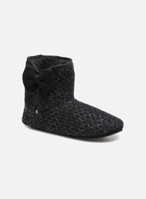 Slippers Isotoner Botillon tricot lurex Black detailed view/ Pair view