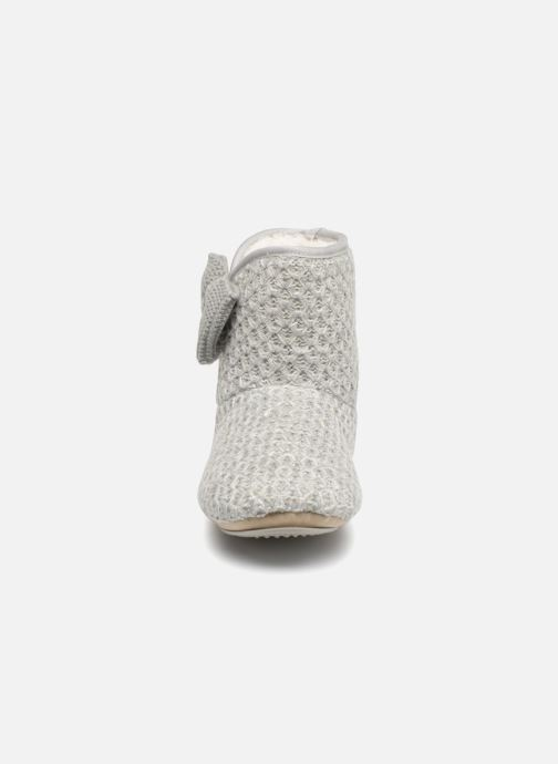 Slippers Isotoner Botillon tricot lurex Grey model view