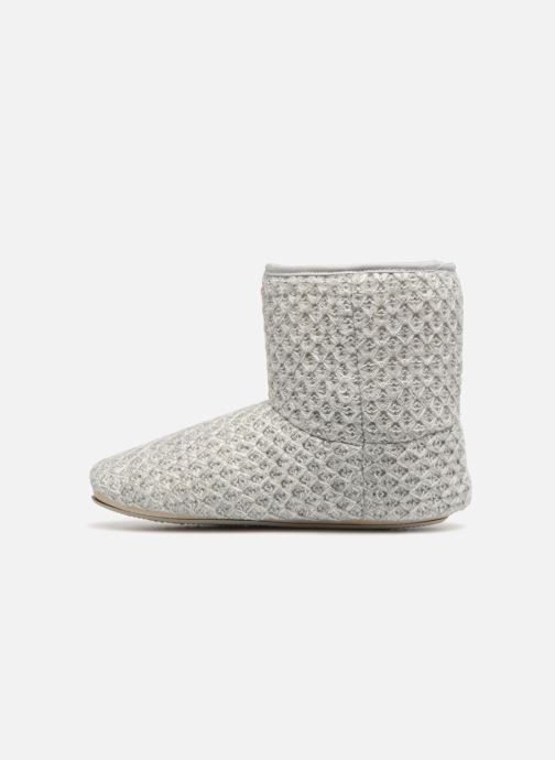 Slippers Isotoner Botillon tricot lurex Grey front view